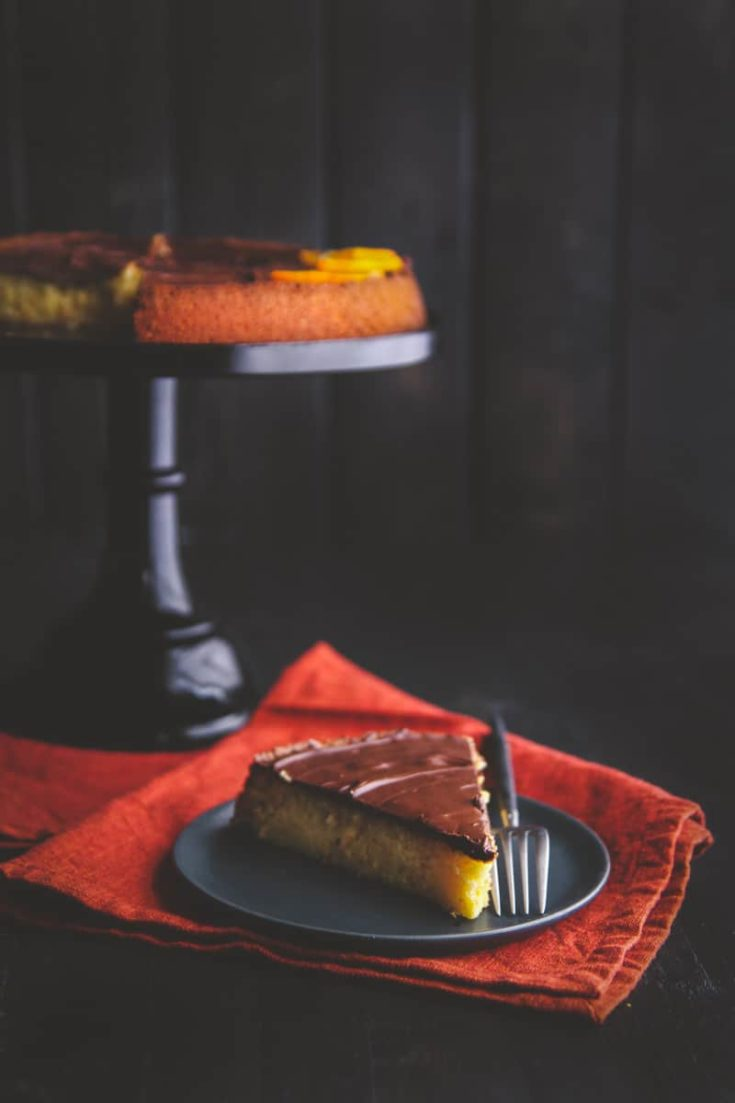 5 Ingredient Cake {Orange Chocolate Almond Torte}