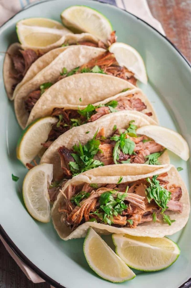 5 Ingredient Slow Cooker Pork Carnitas Tacos