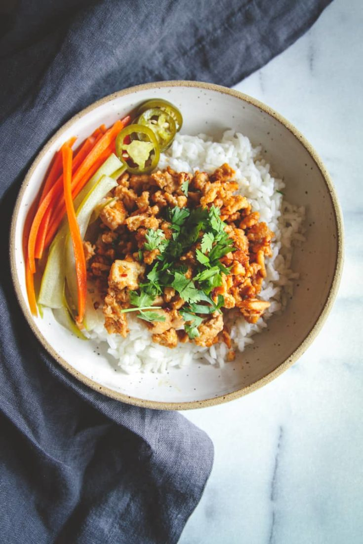 Asian Ground Turkey and Rice Bowls Recipe