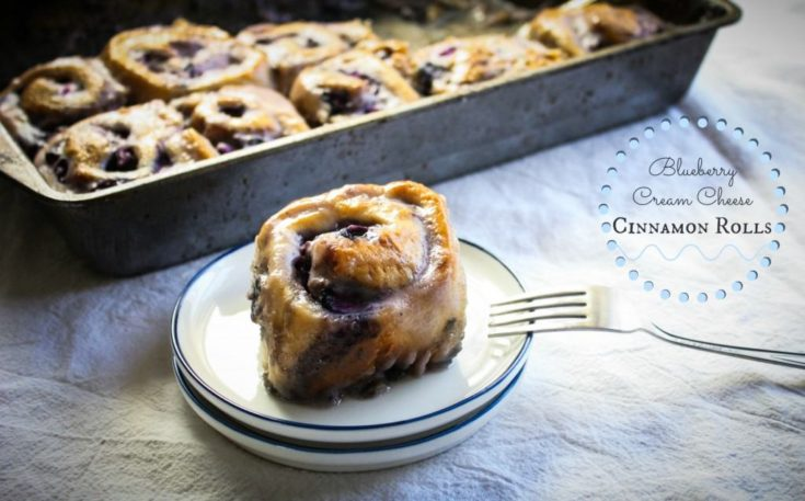 Blueberry Philadelphia Cream Cheese Cinnamon Rolls