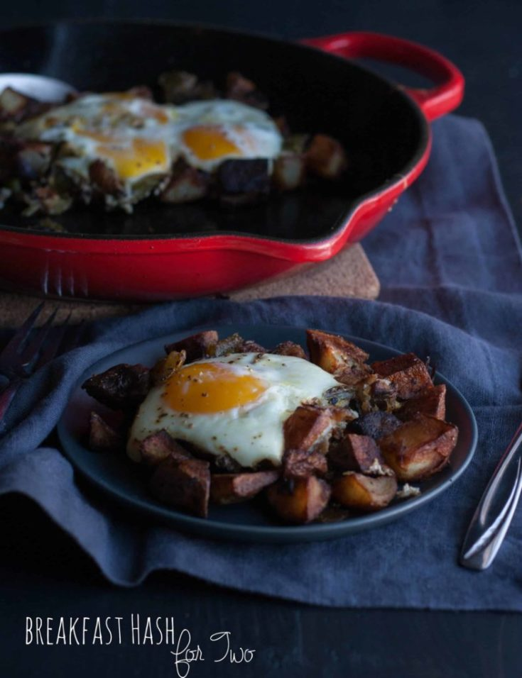 Breakfast hash for two