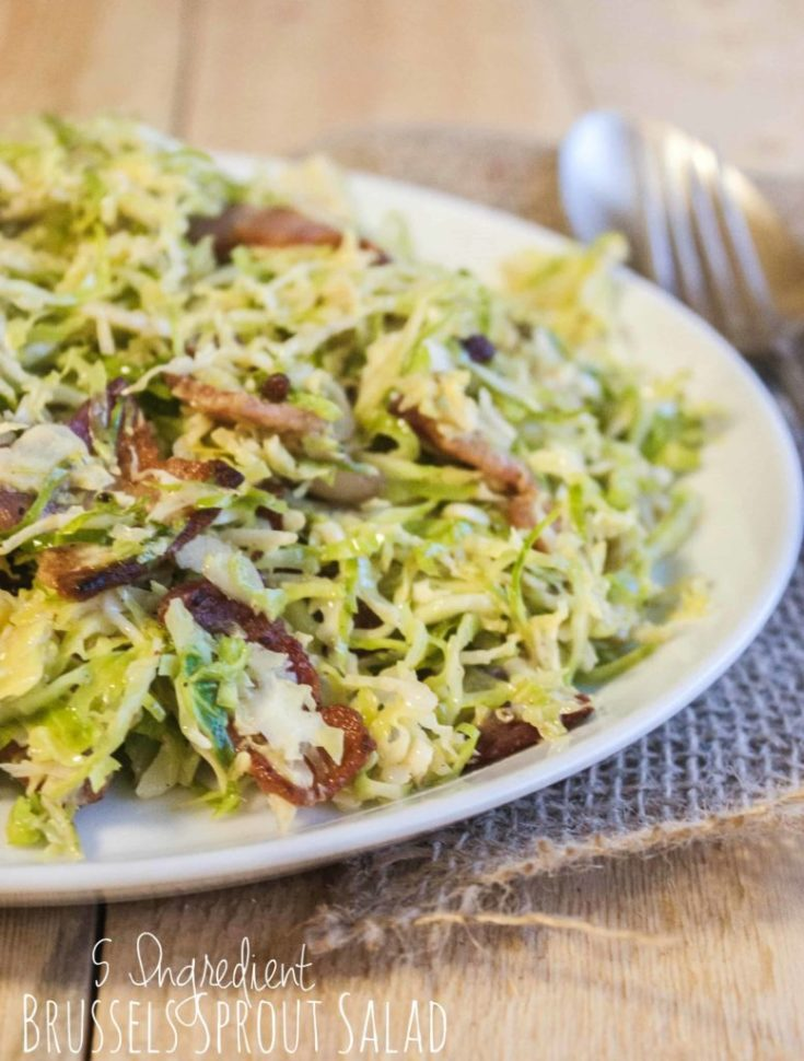 5 Ingredient Brussels Sprout Salad
