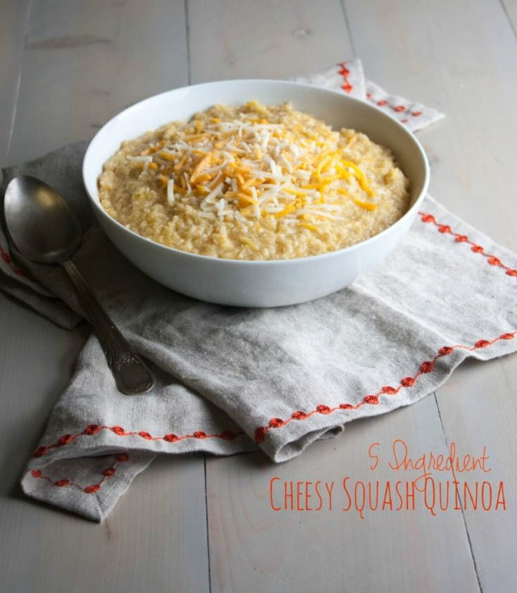 5 Ingredient Cheesy Squash Quinoa