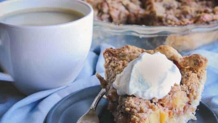 Coffee Crumble Apple Pie