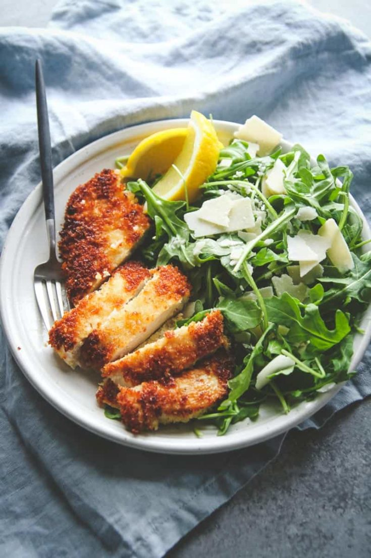 Crispy Chicken And Arugula Salad Recipe