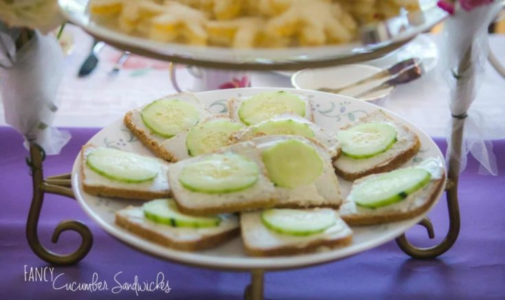 4 Ingredient Fancy Cucumber Sandwiches