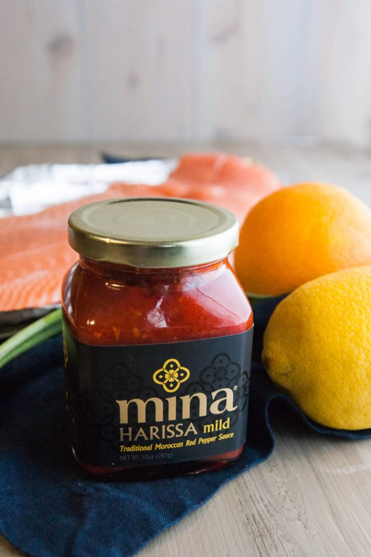 Harissa and Citrus Baked Salmon