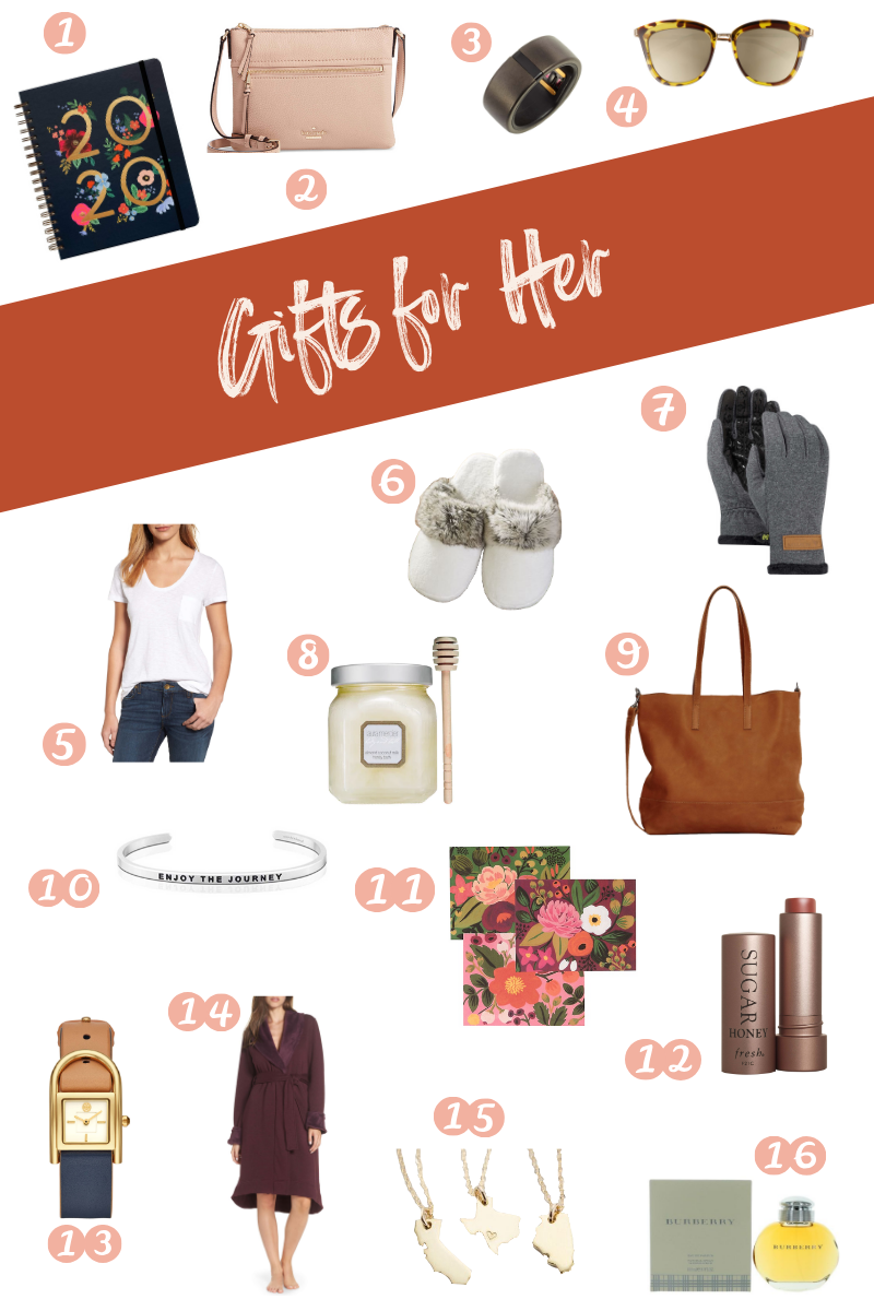 Holiday gift guide roundup featuring perfect gifts for her
