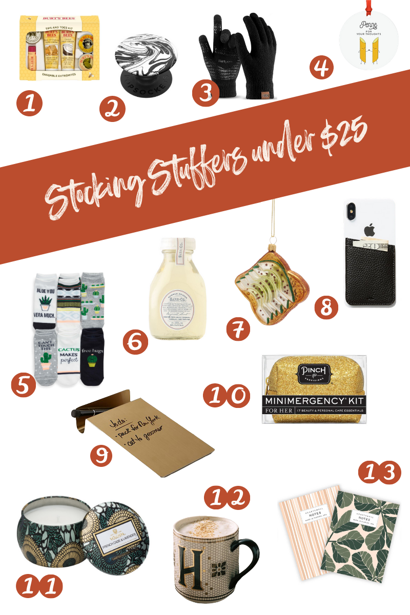 Holiday gift guide, stocking stuffers under $25
