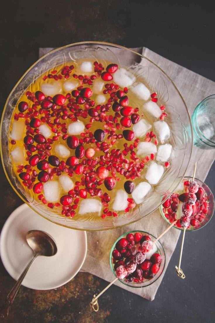 5 Ingredient Holiday Punch Recipe Sweetphi