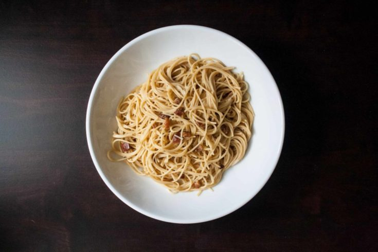 5 Ingredient Carbonara Pasta