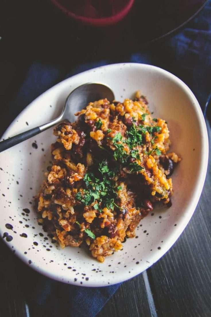 5 Ingredient Leftover Rice Chili Recipe