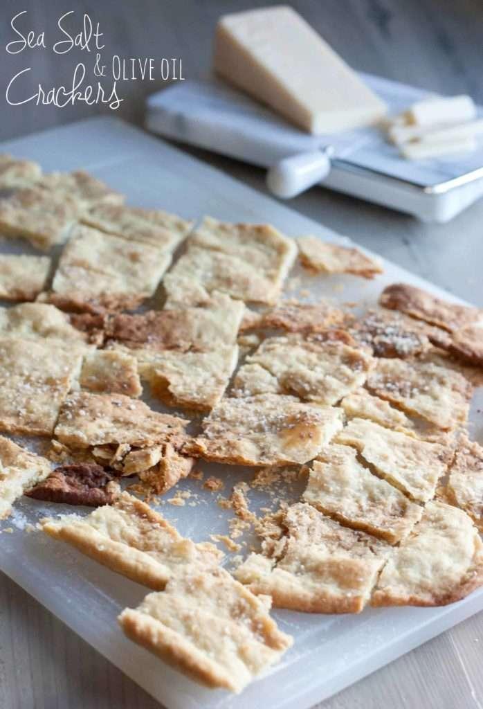 Sea Salt and Olive Oil Crackers