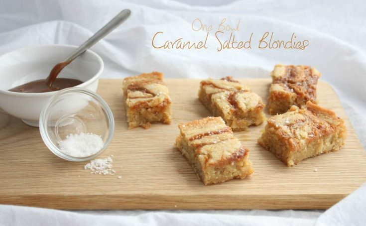 One Bowl Salted Caramel Blondies