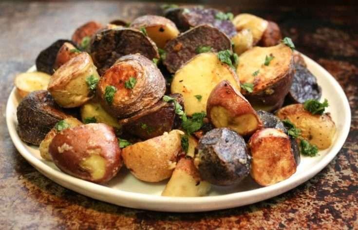 Perfectly Roasted Rainbow Potatoes