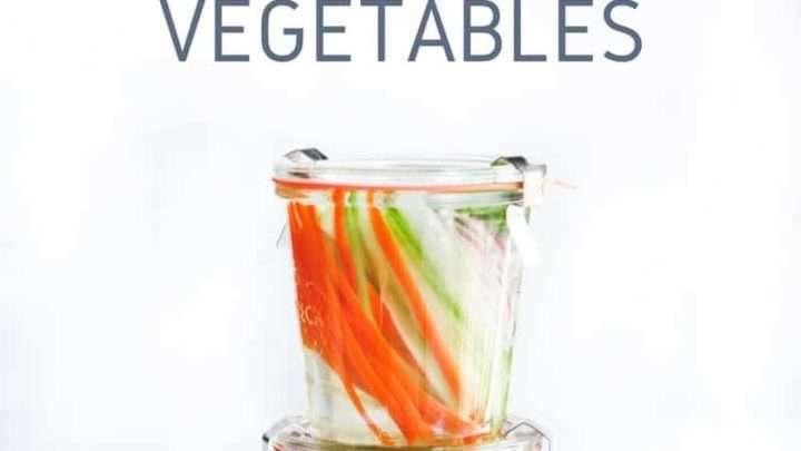 Quick Pickled Asian Vegetables