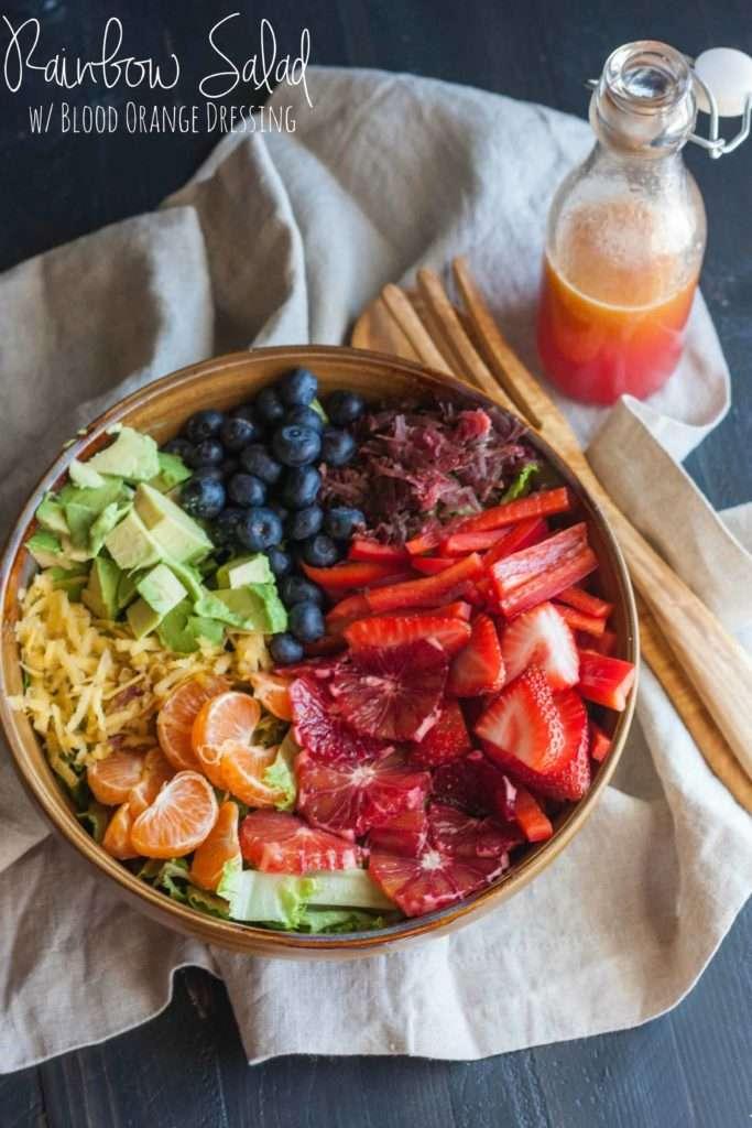 Rainbow Salad with Blood Orange Dressing