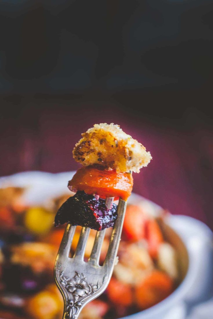 Roasted Vegetables with Fried Goat Cheese Salad Recipe