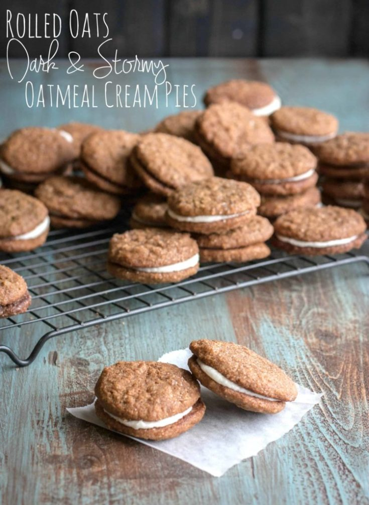Rolled Oats Dark and Stormy Oatmeal Cream Pies