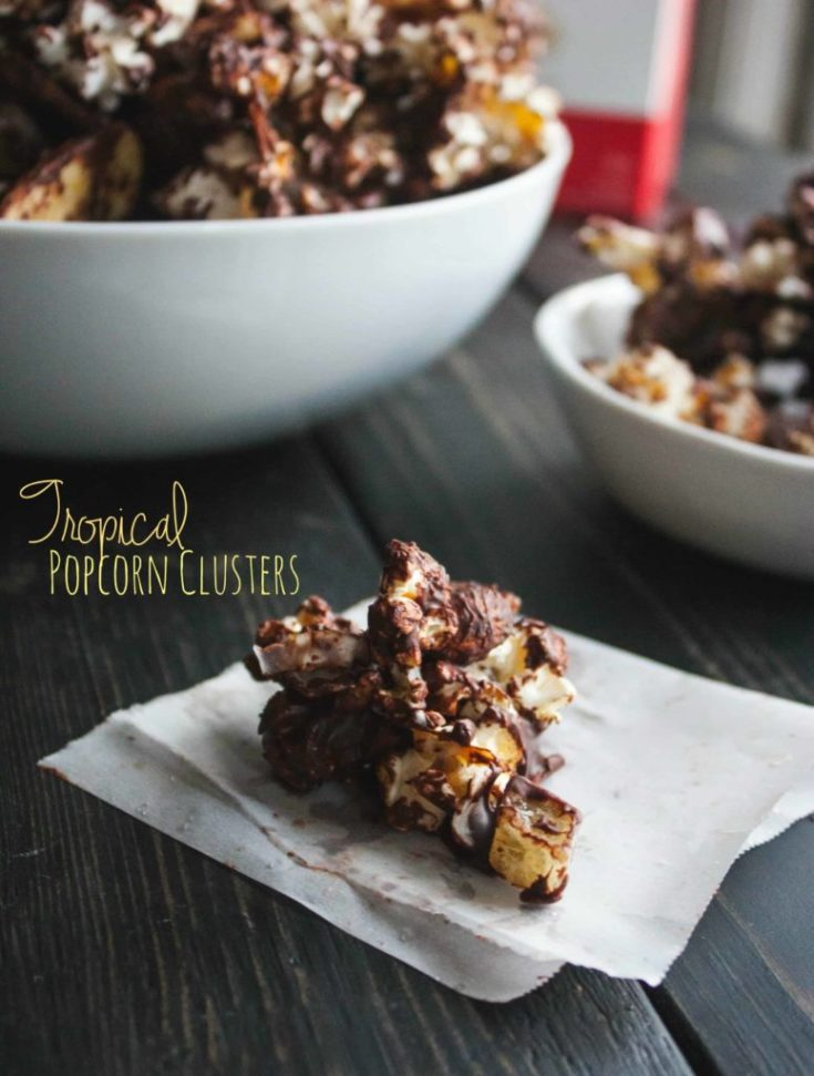 Tropical Low Calorie Popcorn Clusters
