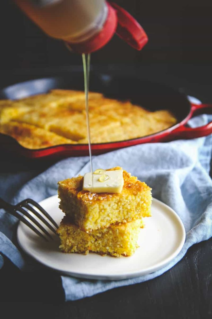Slightly Sweet Skillet Cornbread