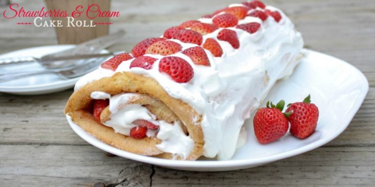 Strawberries & Cream Cake Roll made with Pick 'n Save Ingredients