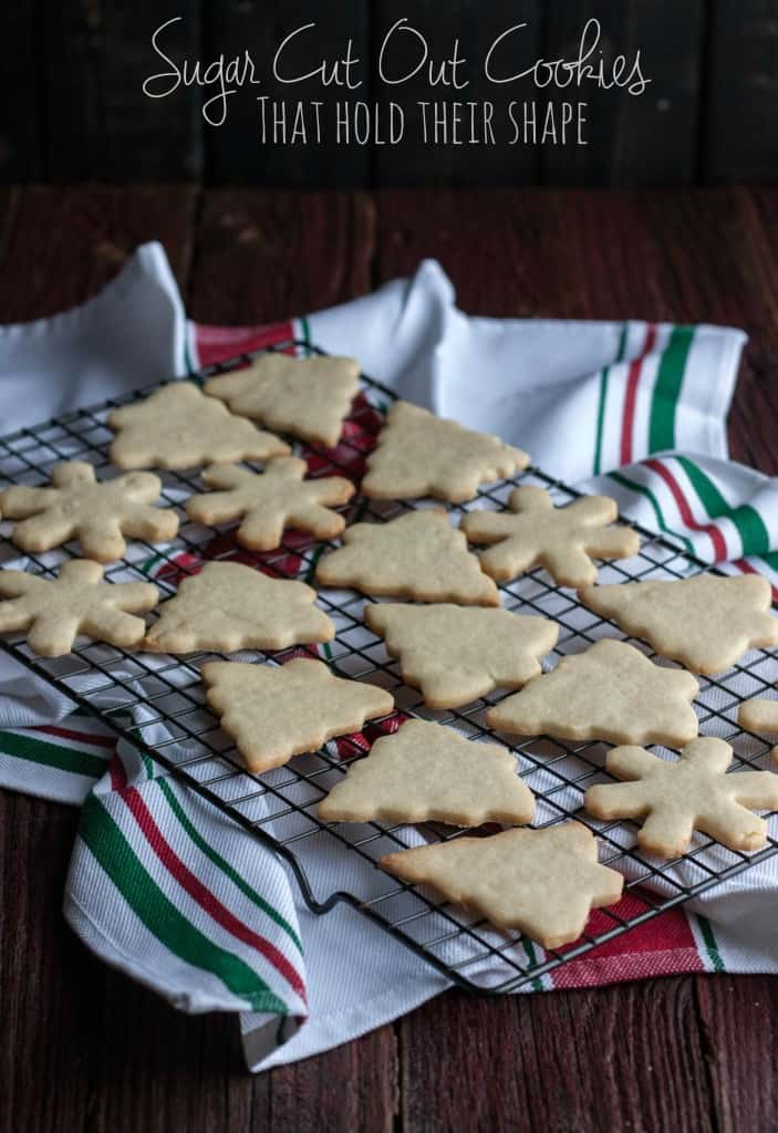 Sugar Cut Out Cookies {that actually hold their shape}