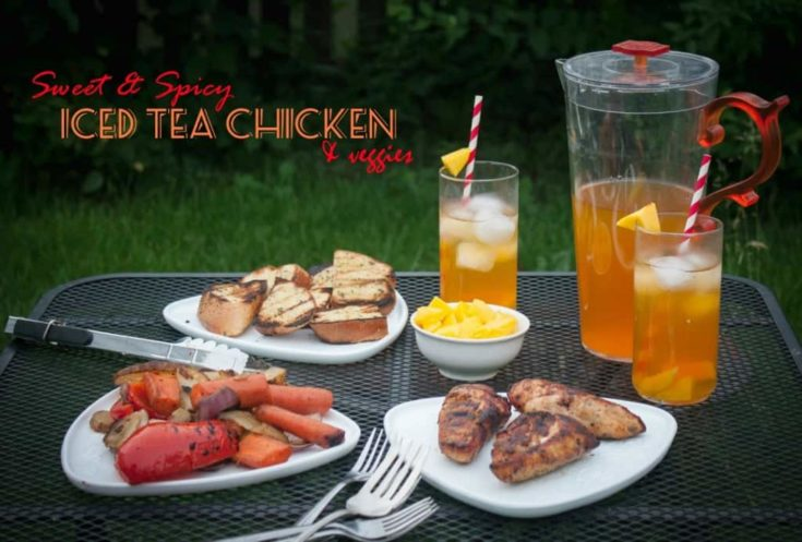 Sweet and Spicy Iced Tea Chicken & Veggies