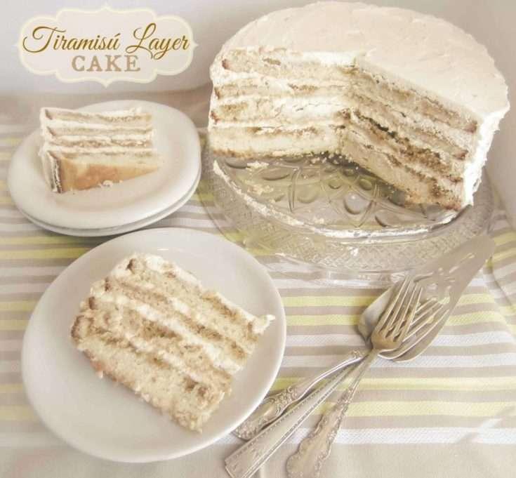 Tiramisú Layer Cake