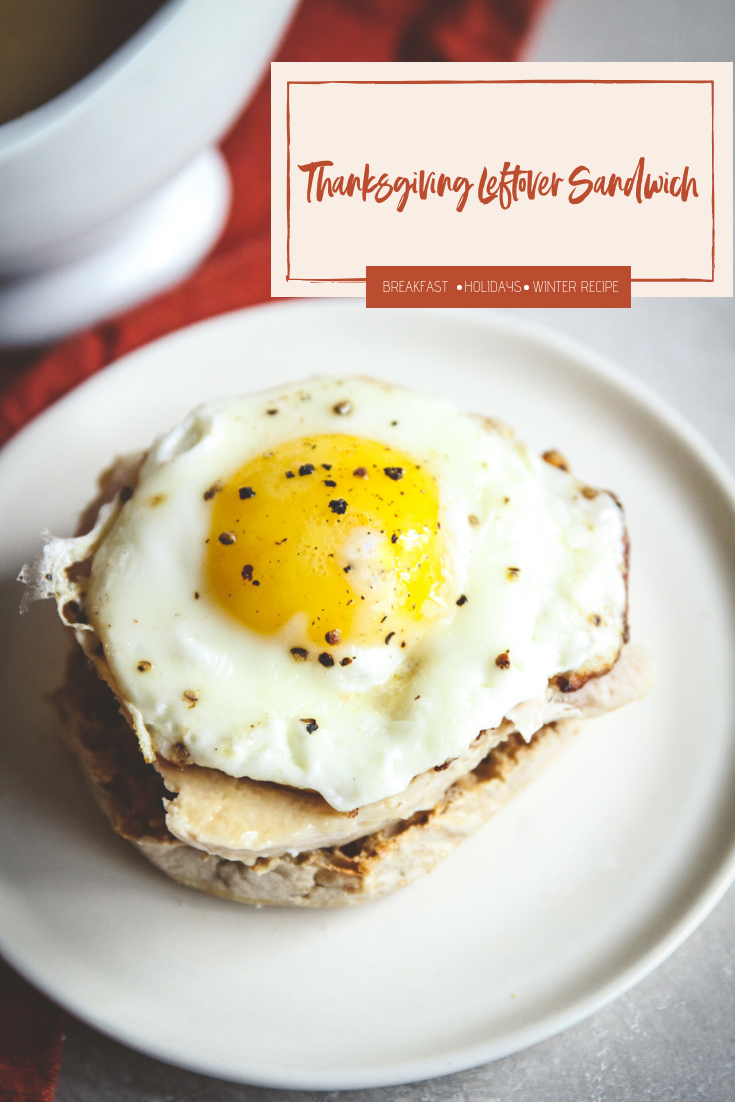 The best ever turkey and egg breakfast sandwich