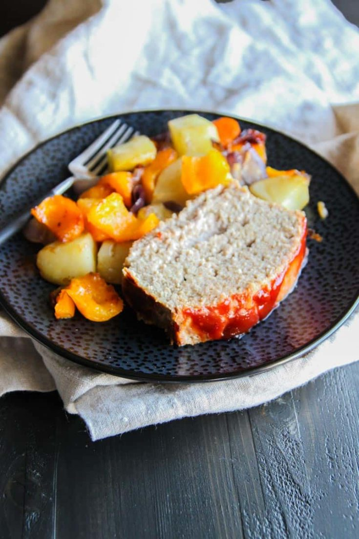 The Best Turkey Meatloaf and Roasted Vegetables