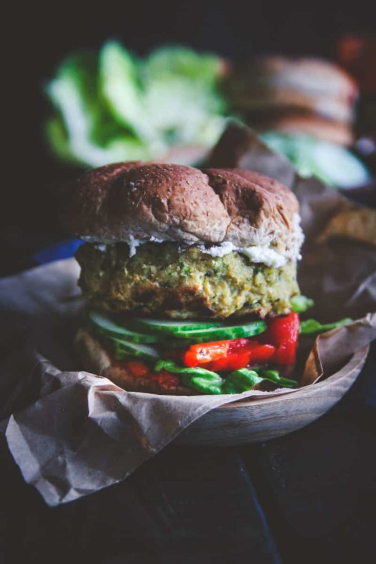 Chickpea and Zucchini Veggie Burgers