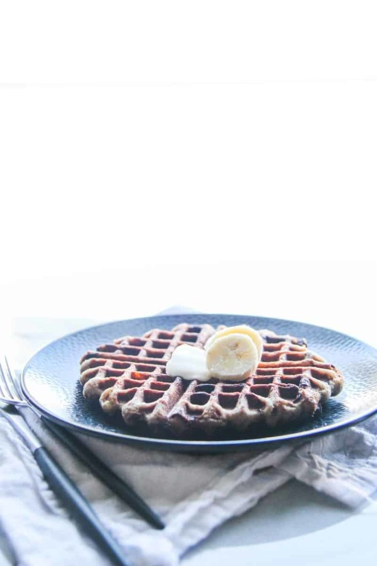 Whole Wheat Banana Chocolate Chip Waffles
