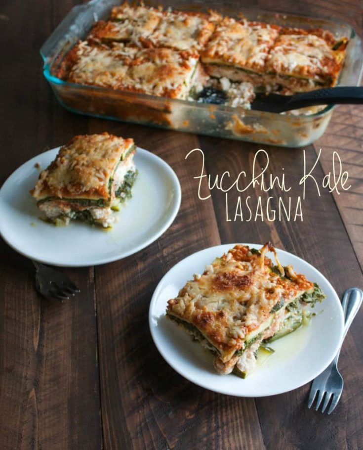 Zucchini and Kale Lasagna {naturally gluten-free}