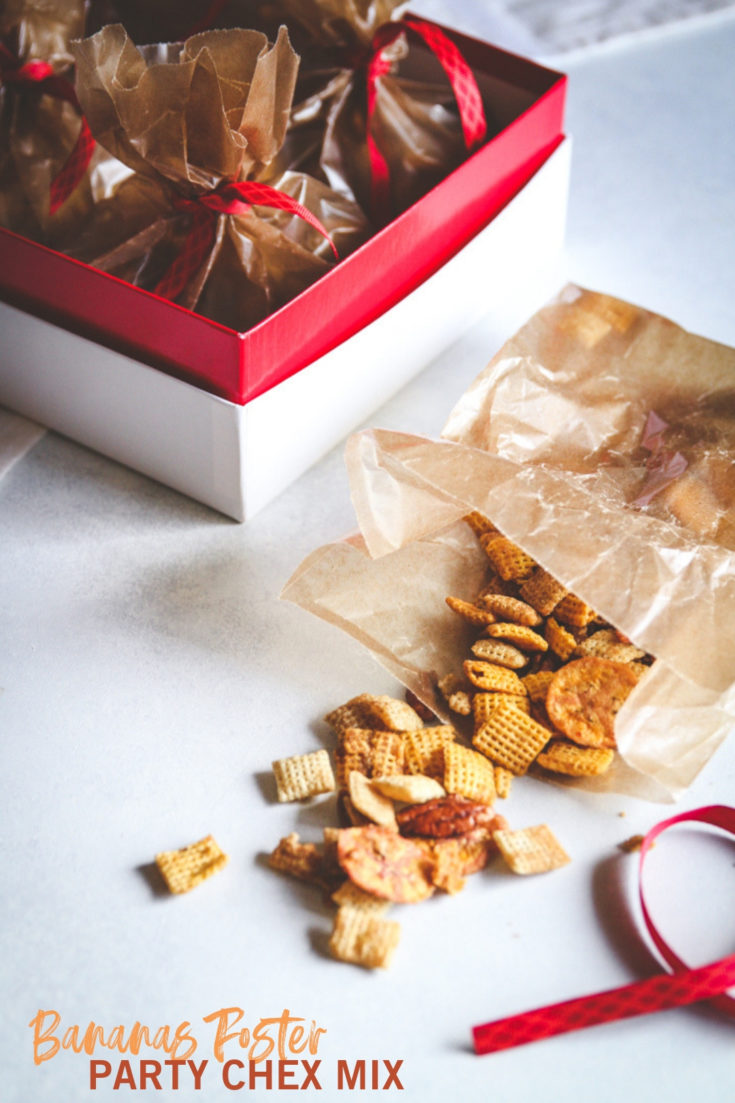 Bananas Foster Party Chex Mix Recipe