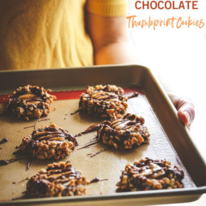 Caramel Chocolate Thumbprint Cookies Recipe