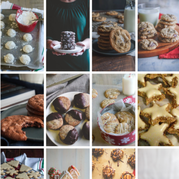 a holiday cookie roundup with 12 of my favorite holiday cookie recipes