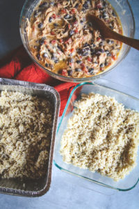 Freezer meal - chicken enchilada casserole casserole, freezer to oven meal, freezer meals for new moms, freezer meals to bring friends in need, freezer to oven meal, freezer meals, chicken freezer meal, meals to bring new moms, freezer meals for new moms