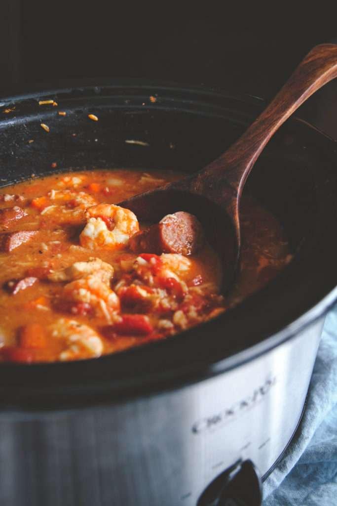 Freezer to crock pot jambalaya, freezer meal prep