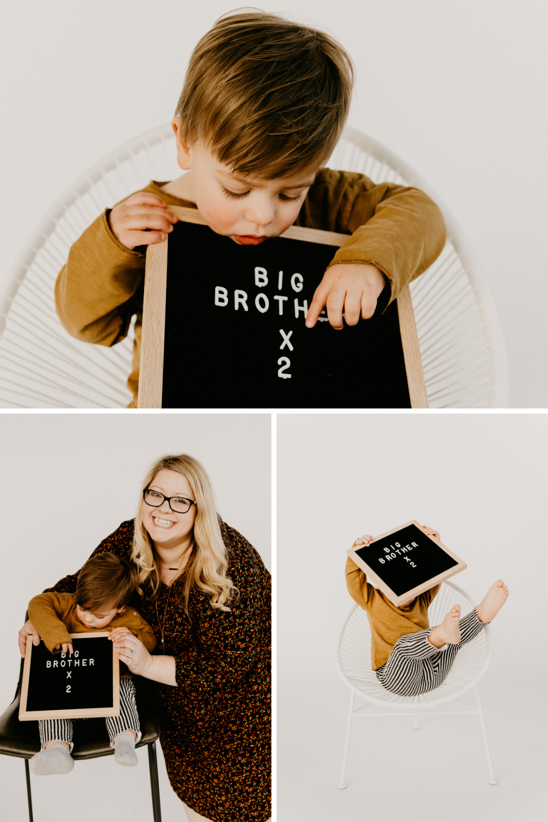 Baby announcement with a big brother