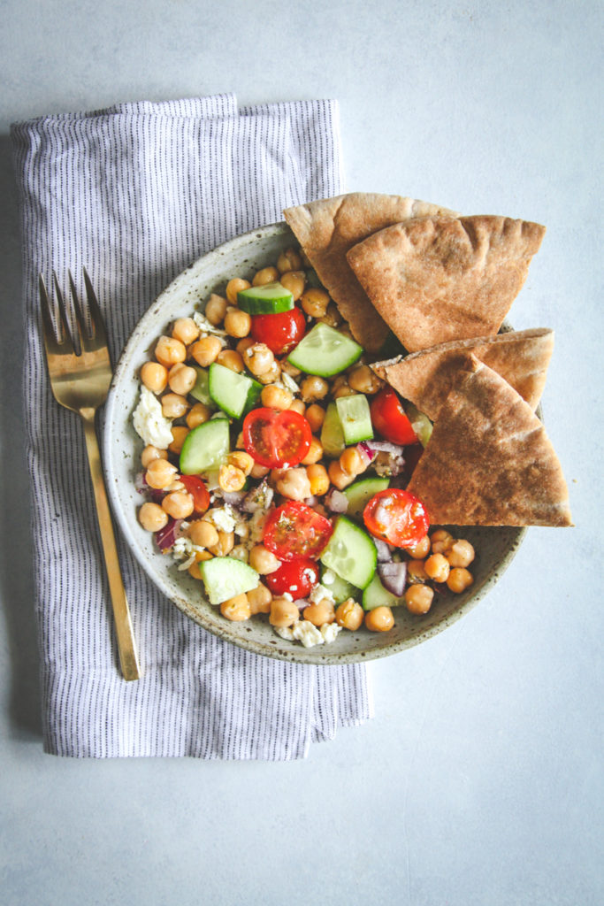 The best ever greek chickpea salad in a jar