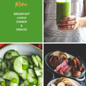 St. Patrick's Day menu, St. Patricks day breakfast lunch dinner snacks ideas, st. patricks day food