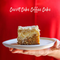 Carrot cake coffee cake with a cheesecake layer, carrot cake cheesecake coffee cake, the best brunch coffee cake, Easter brunch recipe