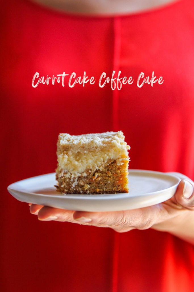 The best tasting carrot cake coffee cake with a cheesecake layer