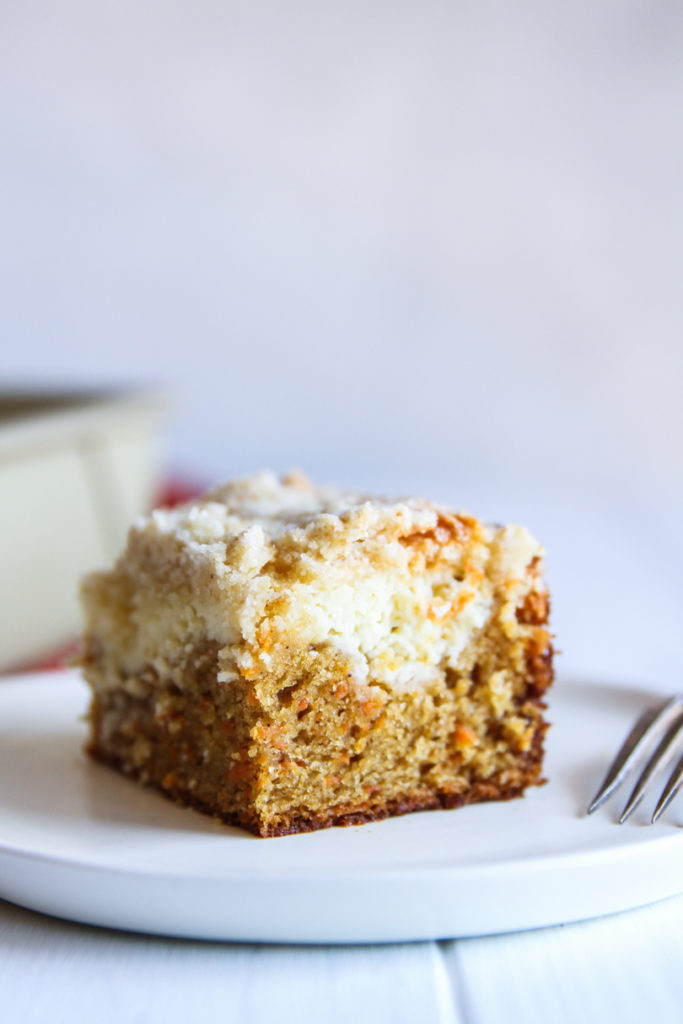 This carrot cake coffee cake is three layers of yum.
