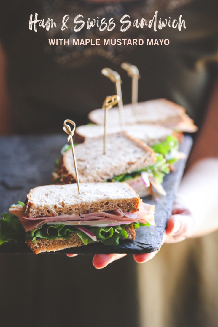Ham & Swiss Sandwich with Maple Mustard Mayo