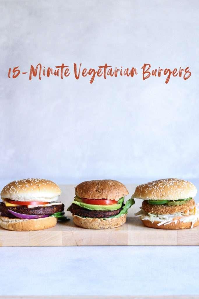 easy vegetarian burgers for dinner