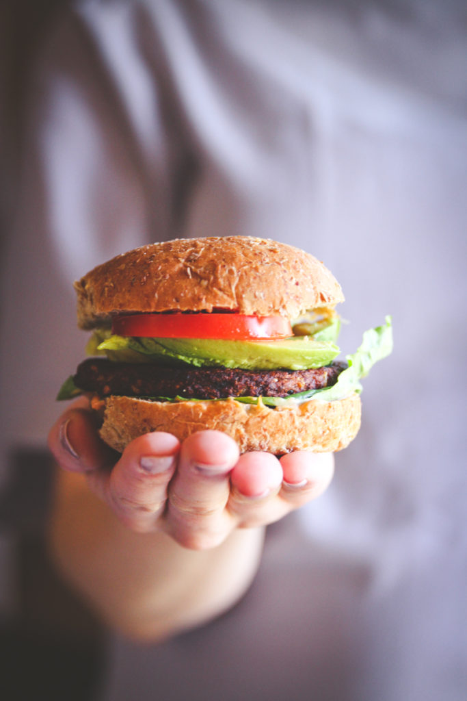 Easy and fast veggie burger meals