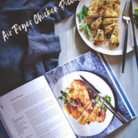 healthy air fryer recipe, air fryer chicken picatta recipe, healthy chicken air fryer recipe, healthy chicken piccata recipe, lightened up italian food