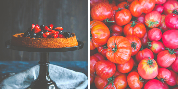 Farmer's Market berry cake and 10 ways to use fresh tomatoes